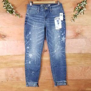 Seven7 Jeans Ankle Skinny Stars Bleach Raw Hems 4